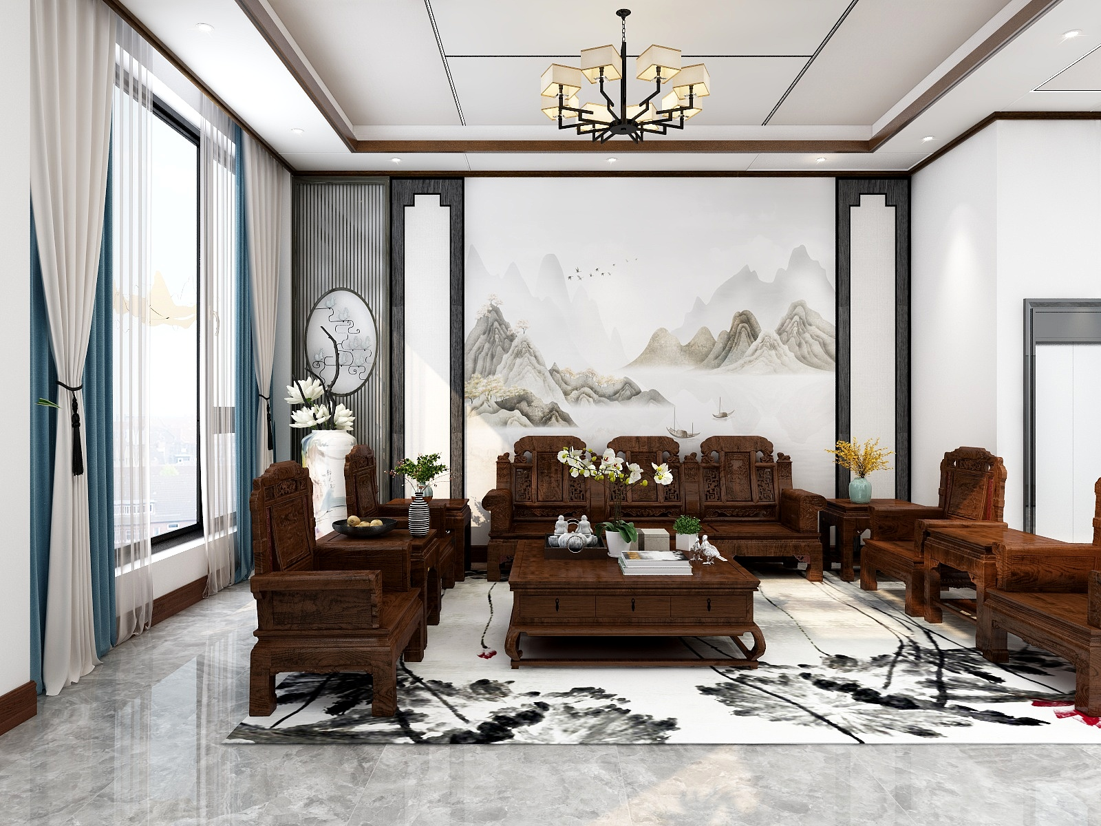 河南省-南阳市-新中式风格